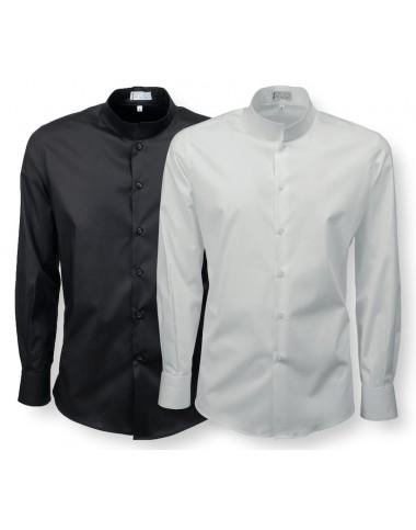 Camicia Lavoro Uomo Manica Lunga Collo coreana C03U
