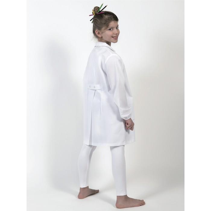 Grembiuli e divise Grembiule Scuola bambino Bianco Bottoni Centrali Unisex Child Smock GR01K