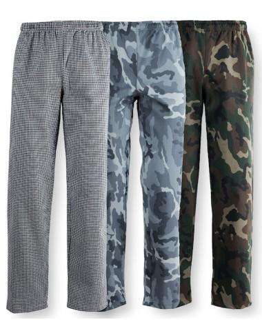 Pantaloni Cuoco Unisex Elastico in Vita P12CX