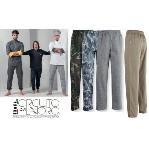 Pantaloni Cuoco Unisex Elastico in Vita P12TCX