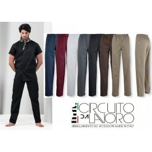 Pantaloni Cuoco Unisex Elastico in Vita P12TX